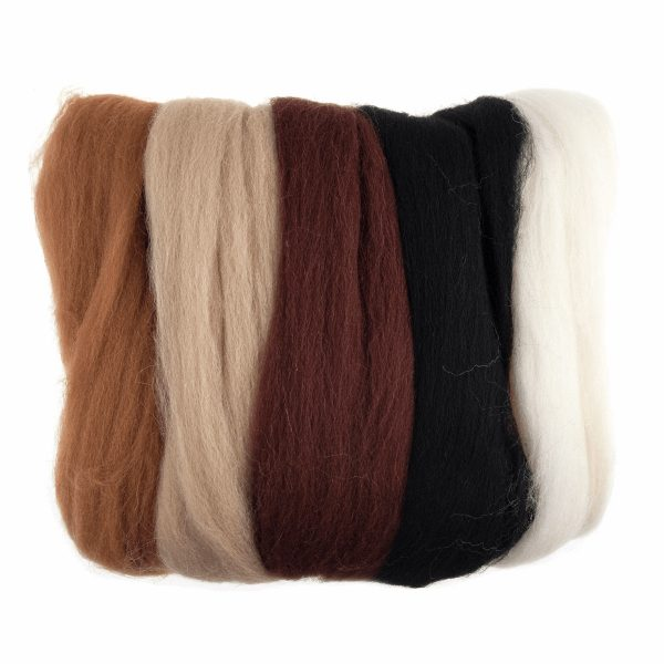 Roving assorted browns